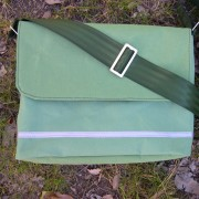 canvas satchel, green canvas