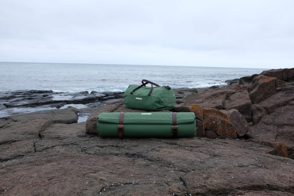 custom canvas duffel bag and swag for Van Diemens Land Brand