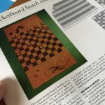 Checkerboard beach towel project