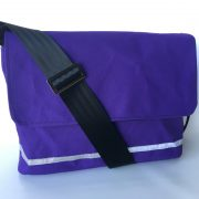 Canvas satchel in Purple mini ripstop