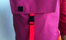 canvas envelope backpack pink