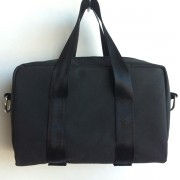 black canvas mini bag