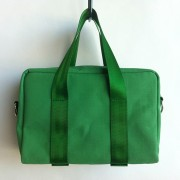 green canvas mini bag