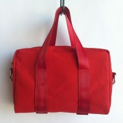 red canvas mini bag
