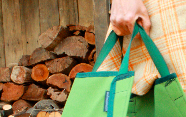 Firewood sling-carrying