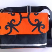canvas satchel, orange vintage canvas