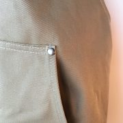 Coverall Apron in Khaki - pocket detail