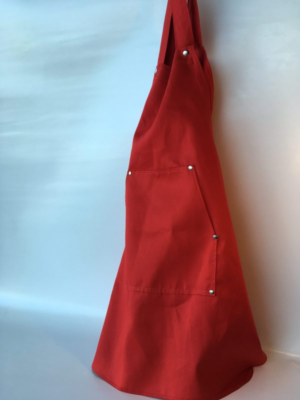 Coverall Apron in Red - front