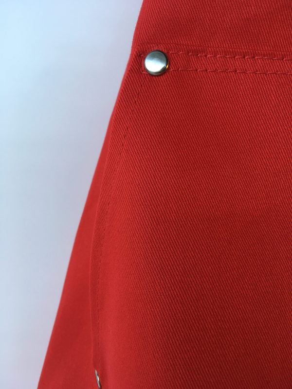 Coverall Apron in Red - pocket detail