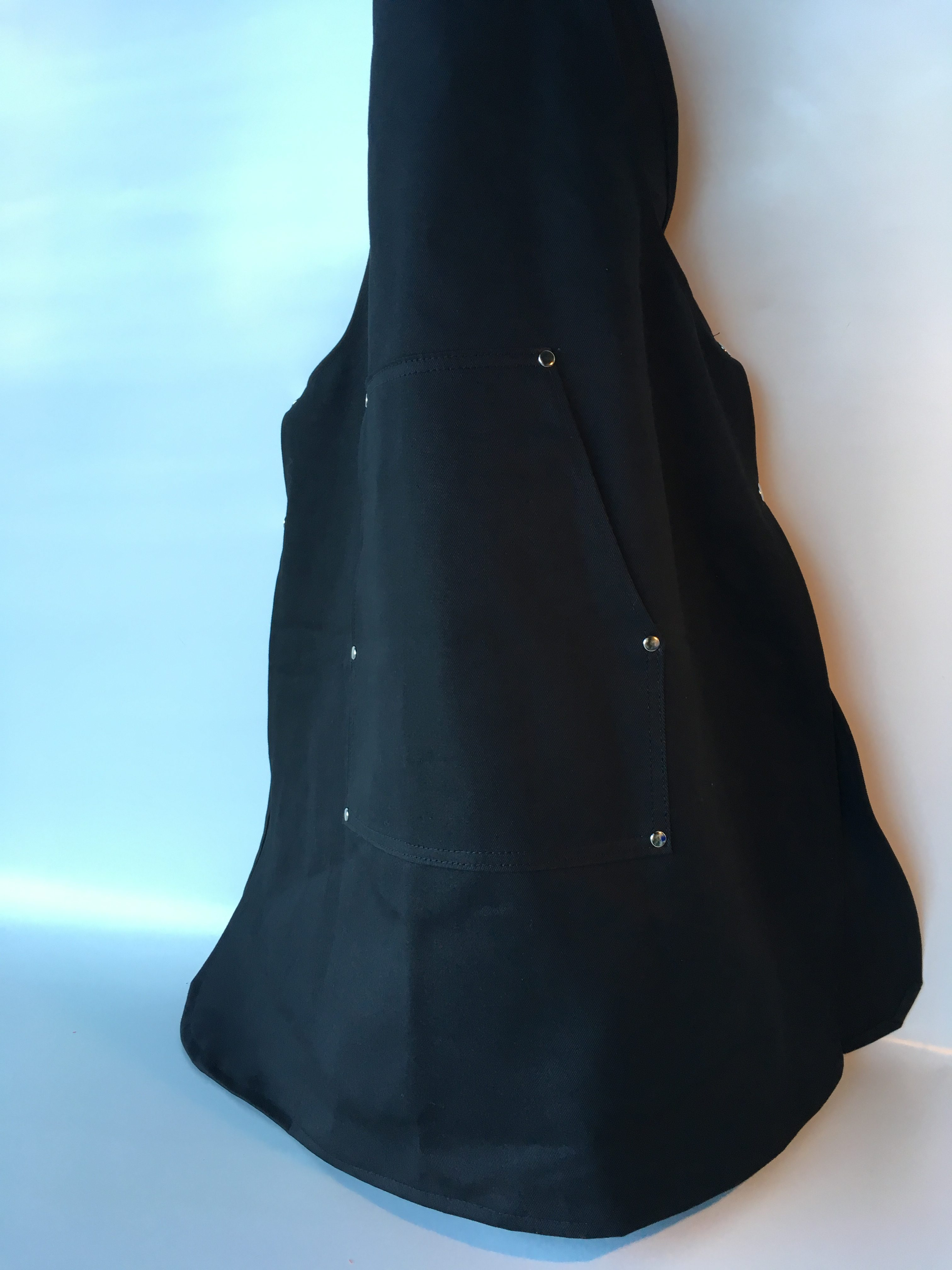 Coverall Apron in Black - front