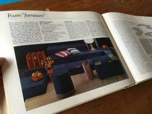 Denim foam furniture project