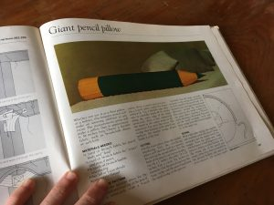 Giant pencil cushion project