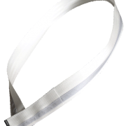 cycling sash, white, reflective