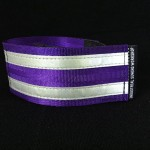reflective legband for cyclists, horse riders and pedestrians, colour purple