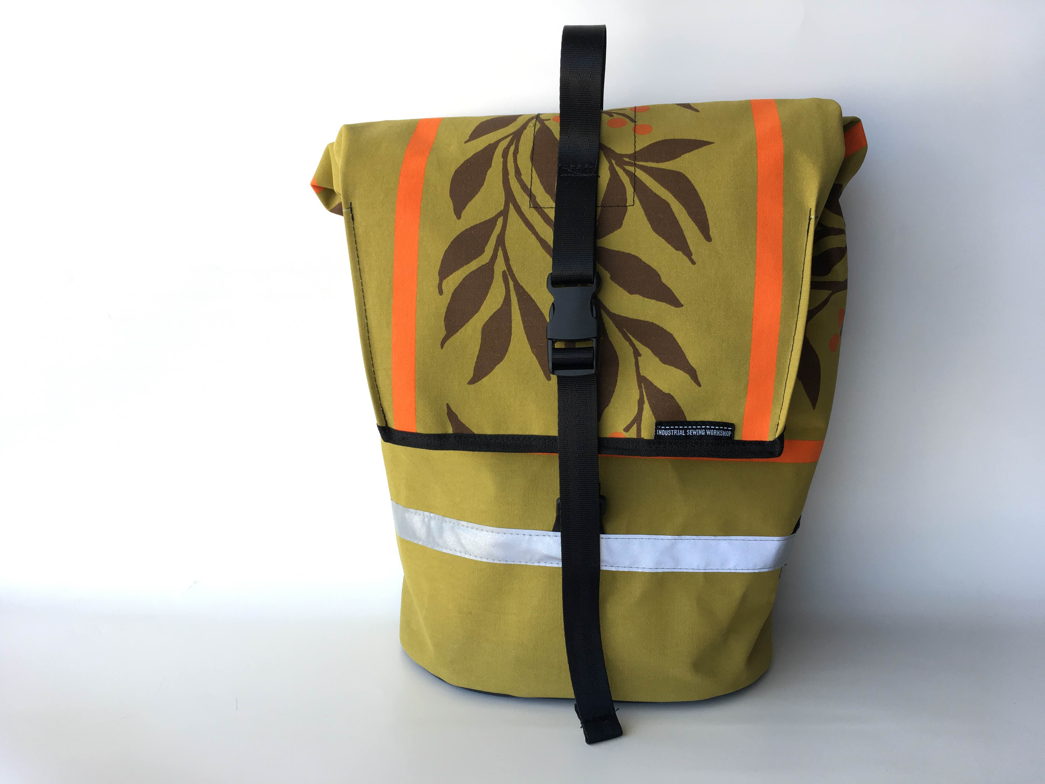 Canvas Pannier in Cairns Birdwing vintage Canvas
