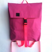 canvas envelope backpack pink