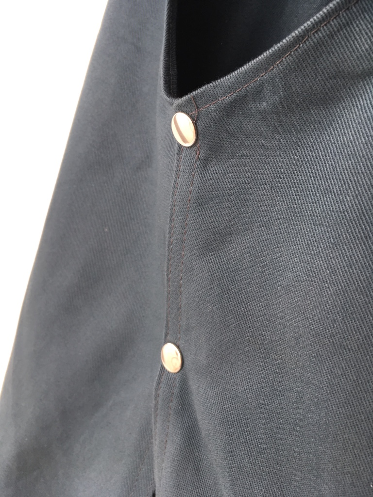 Coverall Apron, strap detail