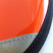 Detail of Shiny Orange for Brompton S-Bag flap