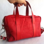 leatherminiduffel-red