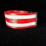 reflective legband for cyclists, horse riders and pedestrians, colour red