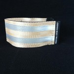 reflective legband for cyclists, horse riders and pedestrians, colour beige