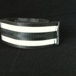 reflective legband for cyclists, horse riders and pedestrians, colour black