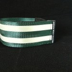 reflective legband for cyclists, horse riders and pedestrians, colour bottle green
