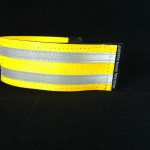 reflective legband for cyclists, horse riders and pedestrians, colour yellow