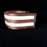 reflective legband for cyclists, horse riders and pedestrians, colour brown