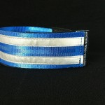 reflective legband for cyclists, horse riders and pedestrians, colour electric blue