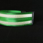reflective legband for cyclists, horse riders and pedestrians, colour emerald green