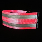 reflective legband for cyclists, horse riders and pedestrians, colour flouro pink