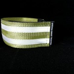 reflective legband for cyclists, horse riders and pedestrians, colour khaki