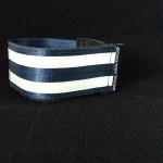 reflective legband for cyclists, horse riders and pedestrians, colour navy
