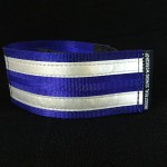reflective legband for cyclists, horse riders and pedestrians, colour royal blue