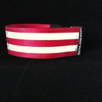 reflective legband for cyclists, horse riders and pedestrians, colour wine