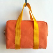 orange canvas mini bag