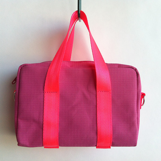 lolly pink canvas mini bag