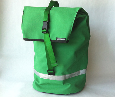 pannier-emerald green ripstop canvas
