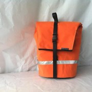 Canvas Pannier bag, orange canvas