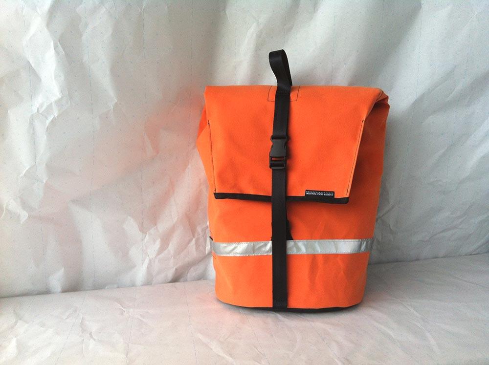 Canvas Pannier bag, orange canvas