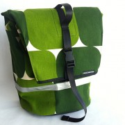 commuter pannier-vintage green and green