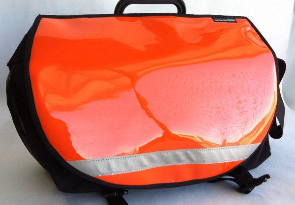 Shiny Orange for Brompton S-Bag flap