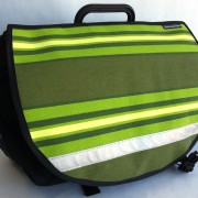 Vintage Lime stripe canvas for Brompton S-Bag flap