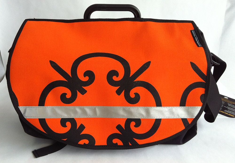 Vintage iron Mandarin Canvas for Brompton S-Bag flap