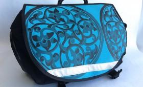 Vintage Ming Blue Canvas for Brompton S-Bag flap