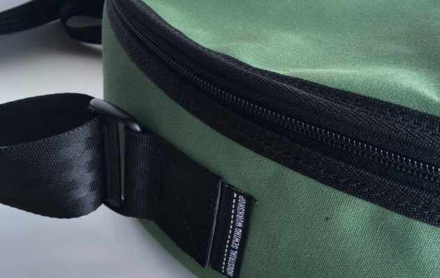 Custom drum bag - detail