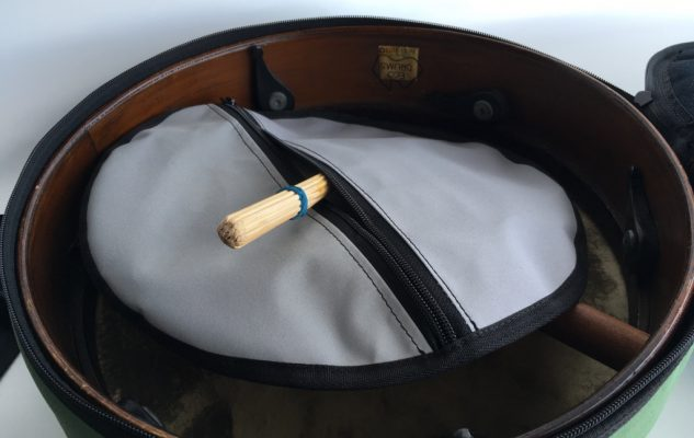 Custom drum bag - inside